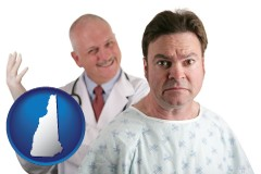 new-hampshire a nervous patient and a smiling urologist
